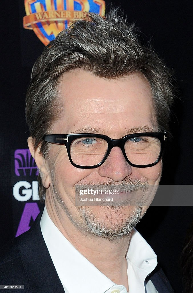 Gary Oldman arrives at the Malcom McDowell series of Q&A screenings presents 'Clockwork Orange' at The Alex Theatre on April 1, 2014 in Glendale, California.