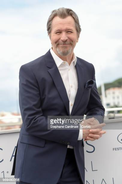 Gary Oldman attends RendezVous With Gary Oldman Photocall during the 71st annual Cannes Film Festival at Palais des Festivals on May 17 2018 in...