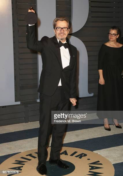 Gary Oldman attends the 2018 Vanity Fair Oscar Party hosted by Radhika Jones at Wallis Annenberg Center for the Performing Arts on March 4 2018 in...