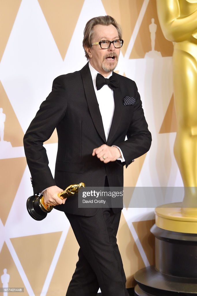 Gary Oldman attends the 90th Annual Academy Awards - Press Room on March 4, 2018 in Hollywood, California.