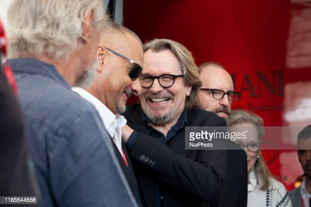 Gary Oldman attends 'The Laundromat' photocall during the 76th Venice Film Festival at Sala Grande on September 01, 2019 in Venice, Italy.