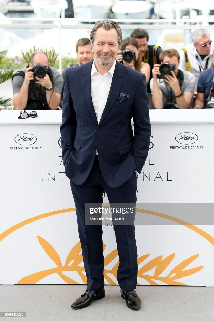 Gary Oldman attends the photocall for Rendez-Vous With Gary Oldman during the 71st annual Cannes Film Festival at Palais des Festivals on May 17, 2018 in Cannes, France.