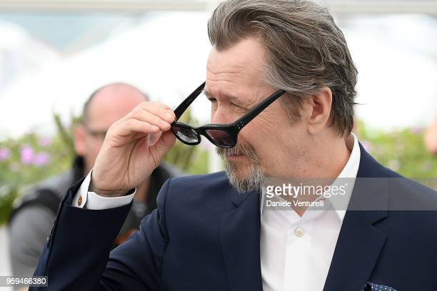 Gary Oldman attends the photocall for RendezVous With Gary Oldman during the 71st annual Cannes Film Festival at Palais des Festivals on May 17 2018...