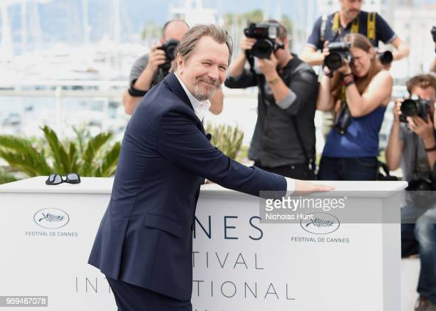 Gary Oldman attends the RendezVous with Gary Oldman Photocall during the 71st annual Cannes Film Festival at Palais des Festivals on May 17 2018 in...