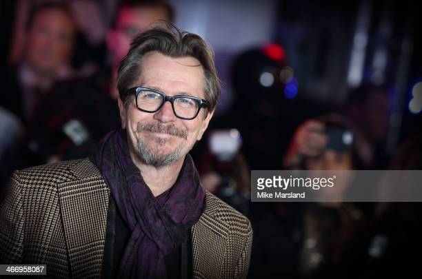Gary Oldman attends the World Premiere of 'Robocop' at BFI IMAX on February 5 2014 in London England