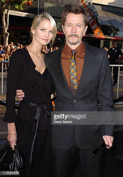 Gary Oldman during 'Batman Begins' Los Angeles Premiere Arrivals at Chinese Theatre in Los Angeles California United States