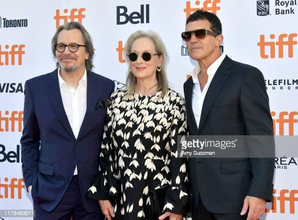 Gary Oldman Meryl Streep and Antonio Banderas attends The Laundromat premiere during the 2019 Toronto International Film Festival at Princess of...