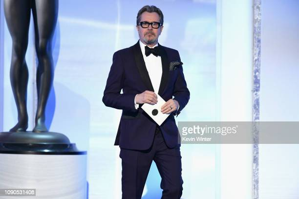 Gary Oldman onstage during the 25th Annual Screen Actors Guild Awards at The Shrine Auditorium on January 27 2019 in Los Angeles California 480493