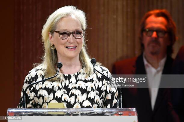 Gary Oldman presents the TIFF Tribute Actor Award to Meryl Streep during the 2019 Toronto International Film Festival TIFF Tribute Gala at The...