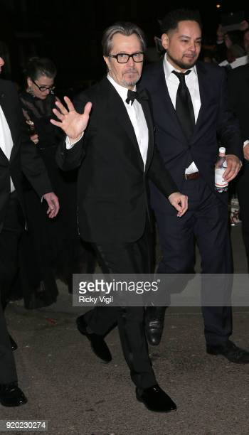 Gary Oldman seen at BAFTAs official afterparty after attending the EE British Academy Film Awards at the Royal Albert Hall on February 18 2018 in...