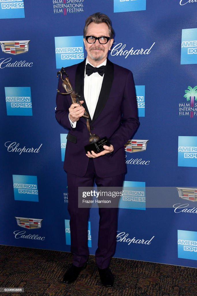 Gary Oldman, winner of the Desert Palm Achievement Award at the 29th Annual Palm Springs International Film Festival Awards Gala at Palm Springs Convention Center on January 2, 2018 in Palm Springs, California.