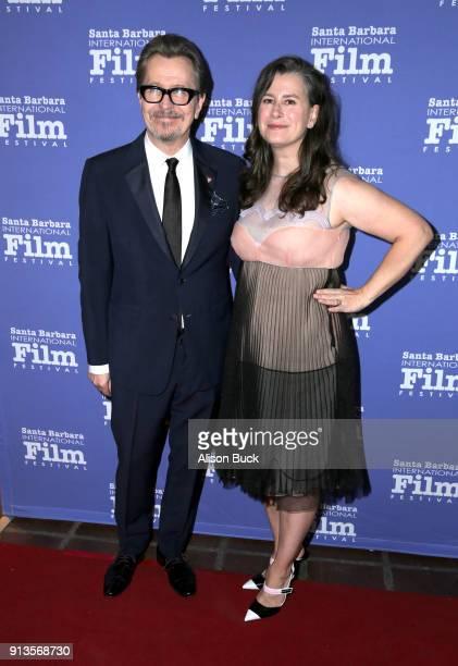Gary Oldmant and Gisele Schmidt at the Maltin Modern Master Award Honoring Gary Oldman during the The 33rd Santa Barbara International Film Festival...