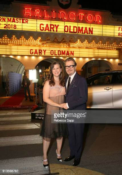 Gary Oldmant and Gisele Schmidt at the Maltin Modern Master Award Honoring Gary Oldman during the The 33rd Santa Barbara International Film Festival...
