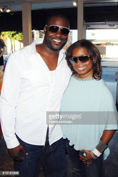 Gary O'Neil and Luwanna Huckaby attend FLP by Nicole Murphy Trunk Show a Jewelry Collection for Men Women at Jami Lyn Boutique on July 13 2010 in...
