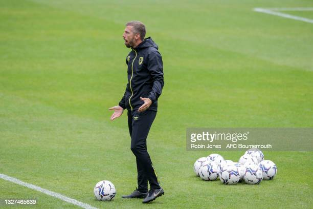 Gary O'Neil of Bournemouth during a pre-season training session at Vitality Stadium on July 07, 2021 in Bournemouth, England.