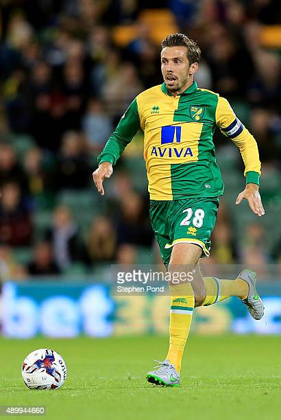 Gary O'Neil of Norwich City during the Capital One Cup Third Round match between Norwich City and West Bromwich Albion at Carrow Road on September 23...