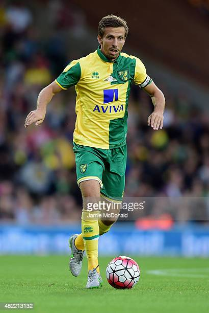 Gary O'Neil of Norwich City in action during the pre season friendly match between Norwich City and West Ham United at Carrow Road on July 28 2015 in...