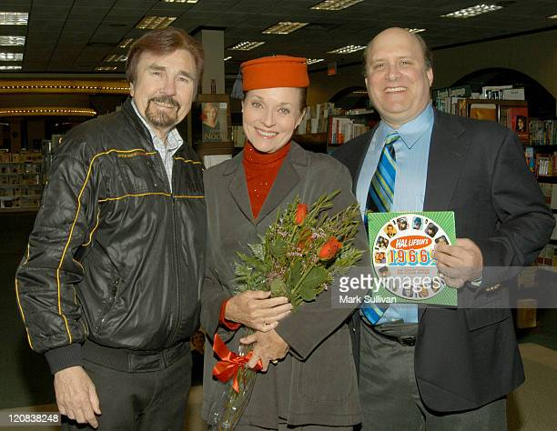 Gary Owens Lee Meriwether and Hal Lifson during Hal Lifson's 1966 Book And CD Signing at Barnes And Noble Book Store in Encino California United...