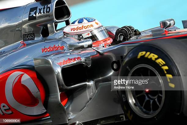 Gary Paffett of Great Britain and Test Driver McLaren Mercedes in action during the Formula 1 Pirelli Tyre Testing at the Yas Marina Circuit on...
