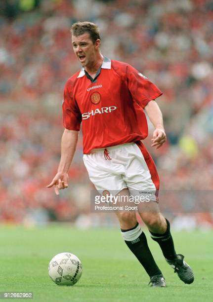 Gary Pallister of Manchester United in action circa 1997