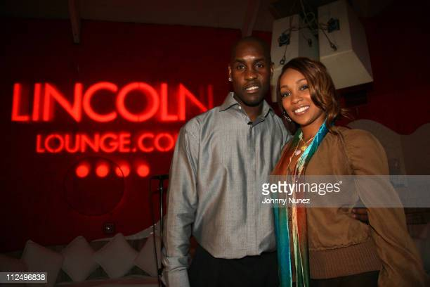 Gary Payton and Monica during Monica Performance Hosted by Lincoln Reach Higher and Gary Payton November 2 2006 at Nikki Beach Miami in Miami Florida...
