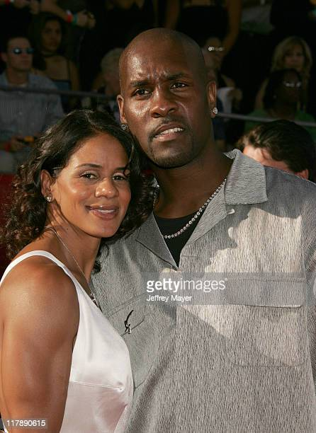 Gary Payton and wife Monique during 2004 ESPY Awards Arrivals at Kodak Theatre in Hollywood California United States