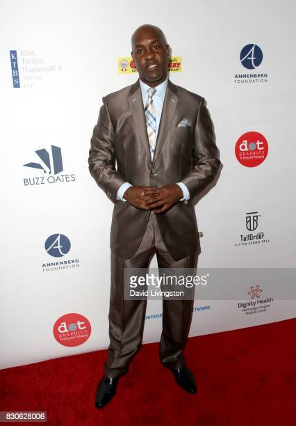 Gary Payton at the 17th Annual Harold Carole Pump Foundation Gala at The Beverly Hilton Hotel on August 11 2017 in Beverly Hills California