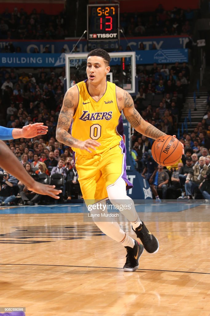 Gary Payton II of the Los Angeles Lakers drives to the basket during ... 09842d48b