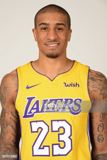 Gary Payton II of the Los Angeles Lakers poses for a head shot at Staples Center in Los Angeles California on January 19 2018 NOTE TO USER User...