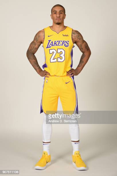 Gary Payton II of the Los Angeles Lakers poses for a portrait at Staples Center in Los Angeles California on January 19 2018 NOTE TO USER User...