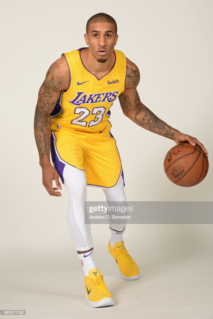Gary Payton II of the Los Angeles Lakers poses for a portrait at ... 6d177f7f0