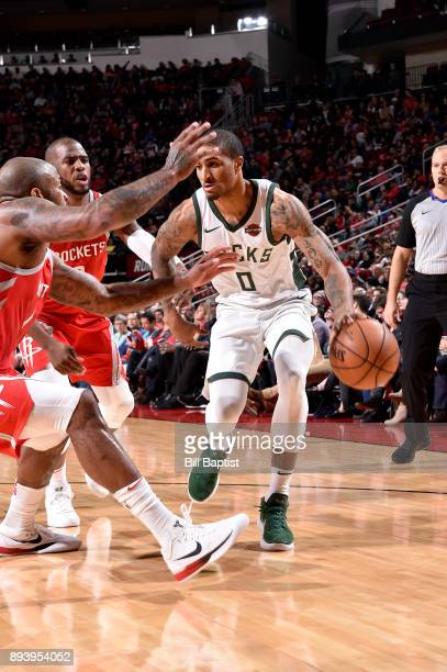 Gary Payton II of the Milwaukee Bucks handles the ball against the Houston Rockets on December 16 2017 at the Toyota Center in Houston Texas NOTE TO...
