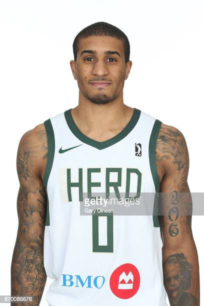 Gary Payton II of the Wisconsin Herd poses for a head shot during the NBA GLeague media day at the Oshkosh Convention Center on November 3 2017 in...