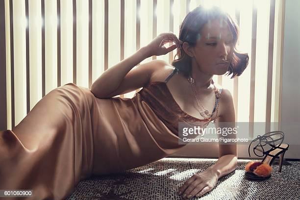 Gary Pepper Girl blogger Nicole Warne is photographed for Madame Figaro on May 13 2016 in Cannes France Dress necklace and ring shoe PUBLISHED IMAGE...