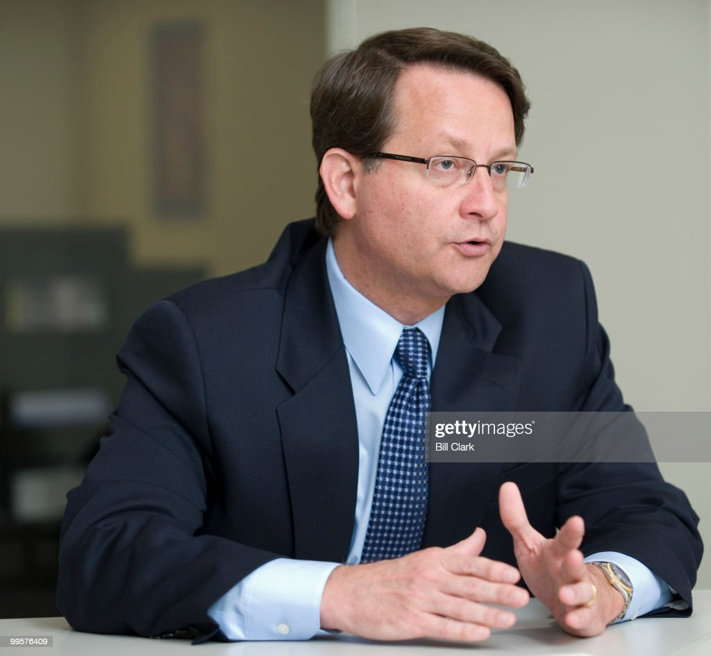 Gary Peters, a Democratic candidate for Congress from Michigan, speaks with Roll Call on Wednesday, June 11, 2008.