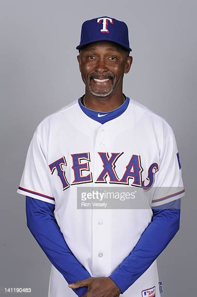 Gary Pettis of the Texas Rangers poses during Photo Day on Tuesday February 28 2012 at Surprise Stadium in Surprise Arizona