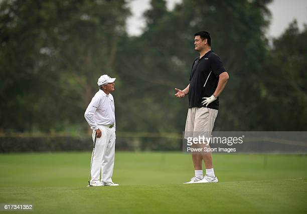 Gary Player and Yao Ming during the World Celebrity ProAm 2016 Mission Hills China Golf Tournament on 23 October 2016 in Haikou Hainan province China