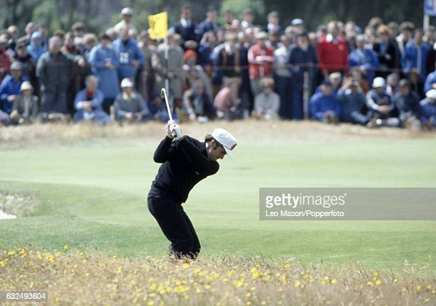 Gary Player of South Africa in action during the British Open Golf Championship at Royal Lytham St Annes Golf Club circa July 1979