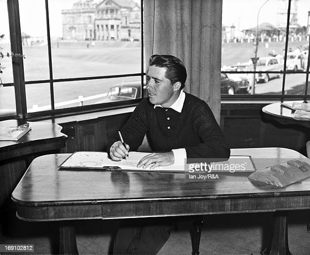 Gary Player of South Africa in one of the golf clubs beside the 18th hole prior to the Open Championship on the Old Course at St Andrews on July 7...