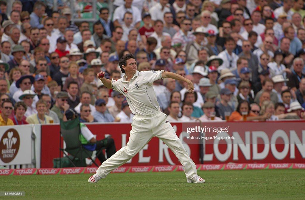 England v Pakistan, 4th Test, The Oval, Aug 06 : News Photo