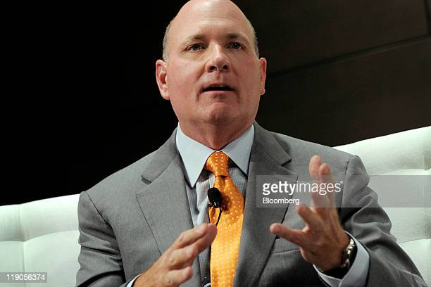 Gary R Garrabrant chief executive officer and cofounder of Equity International speaks at the Bloomberg via Getty Images Brazil Conference in New...