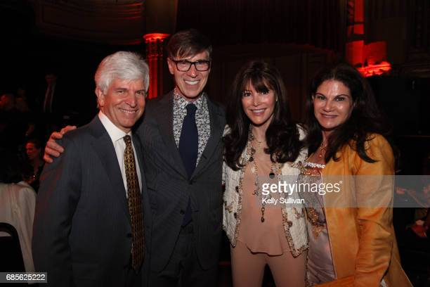 Gary Rayant Amnon Rodan Katie Rodan and Kathy Fields pose for a photo during the buildOn Bay Area Dinner 2017 at The Warfield on May 19 2017 in San...