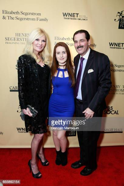 Gary Rein Morgan Rein Colleen Rein attended the New York Premiere and Celebration of Documentary Film Henry T Segerstrom Imagining The Future at...