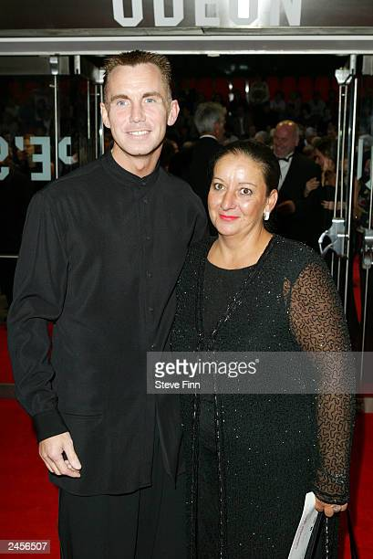 Gary Rhodes and an unidentified companion attend the gala premiere of Calendar Girls at the Odeon Leicester Square September 2 2003 in London United...