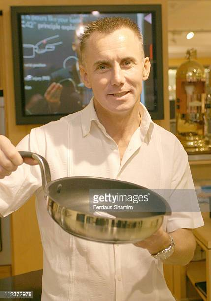 Gary Rhodes during Gary Rhodes Cookware Launch And Photocall at Harrods in London Great Britain