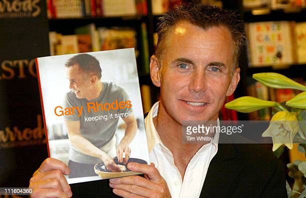 Gary Rhodes during Gary Rhodes Signs His Book Keeping It Simple at Harrods in London September 13 2005 at Harrods in London Great Britain