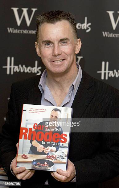 Gary Rhodes Signs Copies Of His New Book 'Gary Rhodes Time To Eat' At Harrods In London