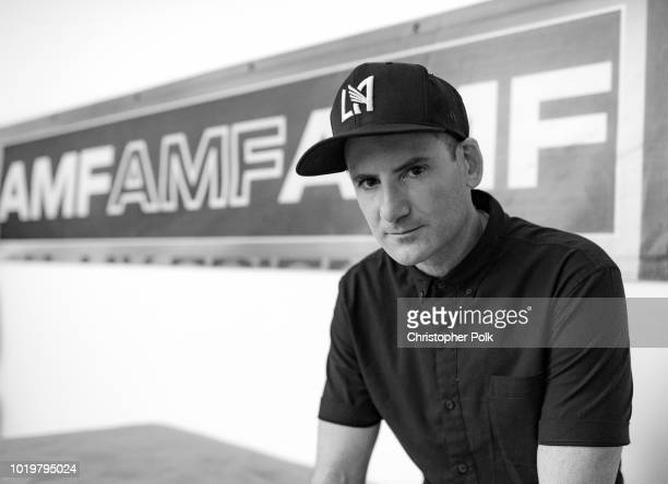Gary Richards aka Destructo poses for a photo backstage at the All My Friends Music Festival on August 19 2018 in Los Angeles California