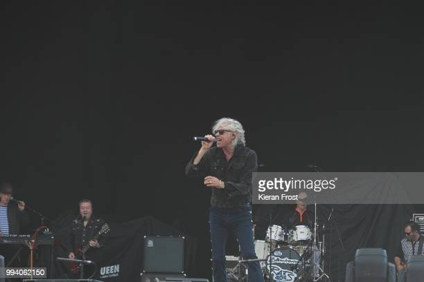 Gary Roberts Bob Geldof Simon Crowe and Pete Briquette of The Boomtown Rats perform at Marlay Park on July 8 2018 in Dublin Ireland
