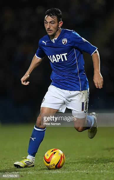 Gary Roberts of Chesterfield in action during the Sky Bet League Two match between Chesterfield and Northampton Town at Proact Stadium on November 26...